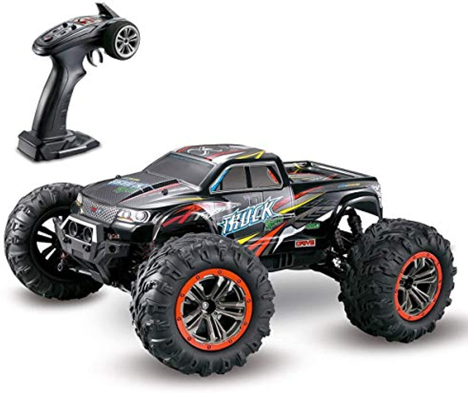 LSQR Groe Gre 1 10 Scale High Speed 46km h 2.4Ghz Fernbedienung 4WD Off Road Truck, Radio Controlled Off-Road RC Electronic Monster Truck RC RTR Hobby Cross-Country Toy Car