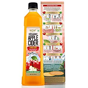 WOW Life Science Organic Apple Cider Vinegar - with strand of mother - not from concentrate – 750 ml