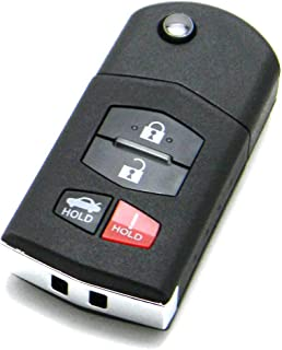 OEM Electronic 4-Button Flip Key Fob Remote Compatible With Mazda (FCC ID: KPU41788, P/N: GP7A-67-5RYB)