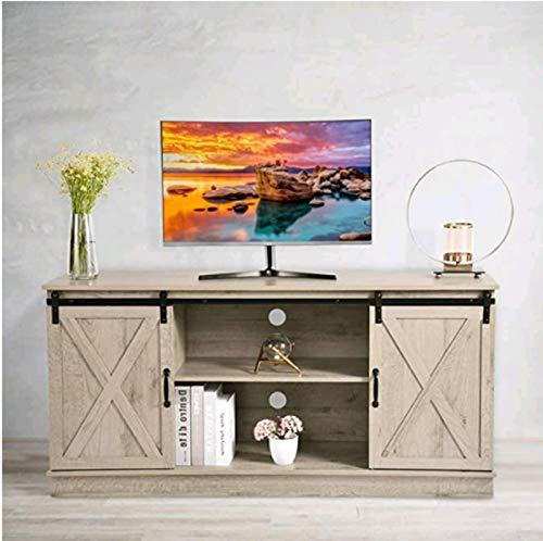 Jiaermei Mesa para TV con Cajones Mueble TV LED Estante Ajustable Multifuncional De 3 Posiciones Moderno Mesa Televisión