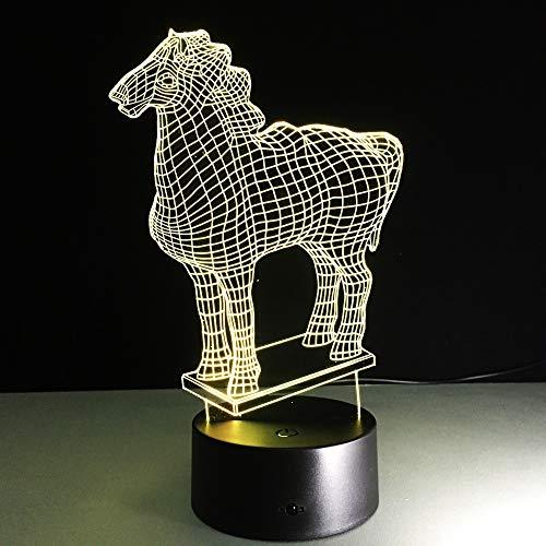 Lustige Neue Pferd Tier licht Modell nachtlicht Farbe Sensor Lichter Kinder Spielzeug Lichter Weihnachten Urlaub neujahr Geschenke