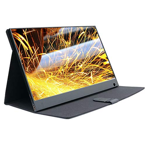 WIMAXIT Portable Monitor,15.6 Inch Touch Slim IPS HD 1920x1080 External 16:9 Display, Narrow Border HDMI/2 Type-C (USB C) Interface/Built-in Speakers VESA Mount, for Laptop Gaming Working Monitor
