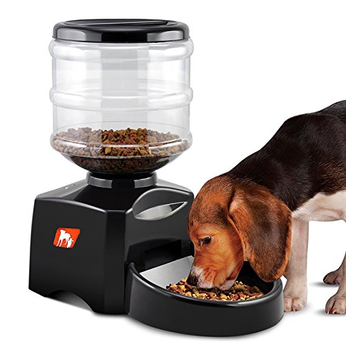 Automatic Pet Feeder 5L Tank Supports Dry Food Voice Recording 3 Meals Per Day