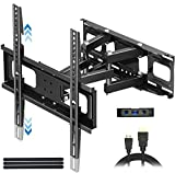 Everstone TV Wall Mount for Most 32'-65' TVs Heavy Duty Dual Arm Articulating Full Motion Tilt Swivel 14' Extension Bracket,LED,LCD,OLED&Plasma Flat Screen Curved TV,Up to VESA 400mm,Height Adjustable