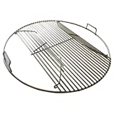 304 Stainless Steel Hinged Cooking Grate Compatible with Weber Charcoal Grills 22.5 inch
