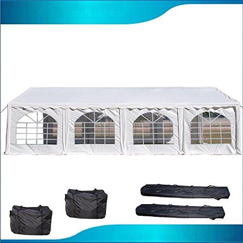 DELTA Canopies 26'x16' PVC Party Tent - Heavy Duty Wedding Canopy Gazebo Carport - with Storage Bags - By