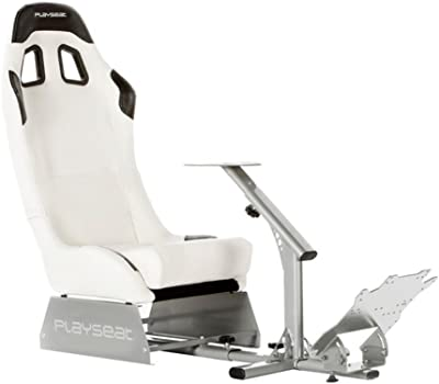 Playseat Evolution-M Gaming Chair - White with Silver Frame