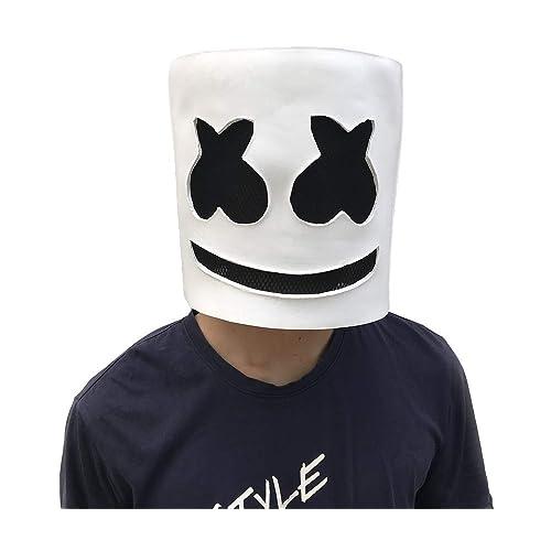 Marshmello DJ Mask Helmet Head Wear | Durable Rubber Latex Party Props