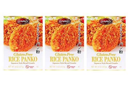 Dynasty Gluten-Free Rice Panko Japanese Style Bread Crumbs 8oz, 3 Pack