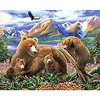 古典的な1000ピースのパズル-4つの茶色のクマ、アート、アート、教育、ギフト、家の装飾のための大きなジグソーパズル