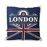 Kissenhülle Vintage GB Flagge London ca. 40x40 cm Kissenbezug Deko Kissen #1595