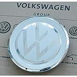Volkswagen 1S0601149JWXN Radzierkappe (1 Stück) Radkappe Felgendeckel Nabenabdeckung Kappe weiß/chrom