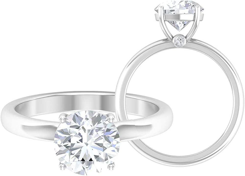 Vintage Ranking TOP6 Engagement Ring D-VSSI 2 New Orleans Mall CT Solitaire Moissanite