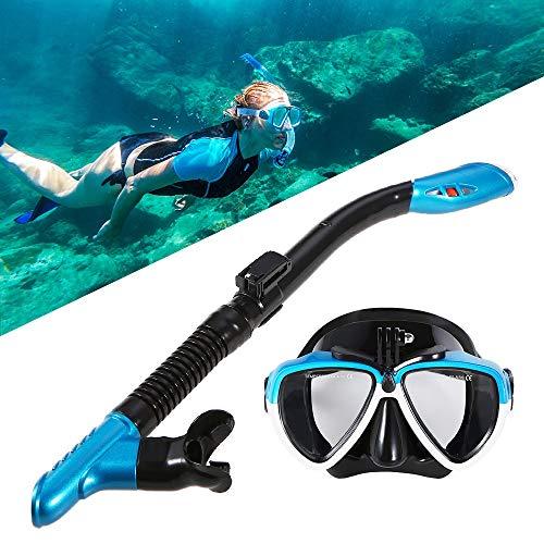 XZANTE Conjunto De Gafas De NatacióN Tubo Respirador De Buceo MáScara De Buceo En Seco Completo CáMara De Gafas De Equipo De Snorkel para Hombre Y Mujer