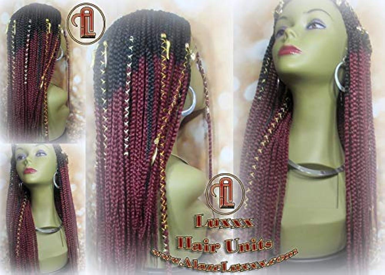 Red Ombre Lemonade Fulani Beyonce Tribal Goddess Box Braid Wigs