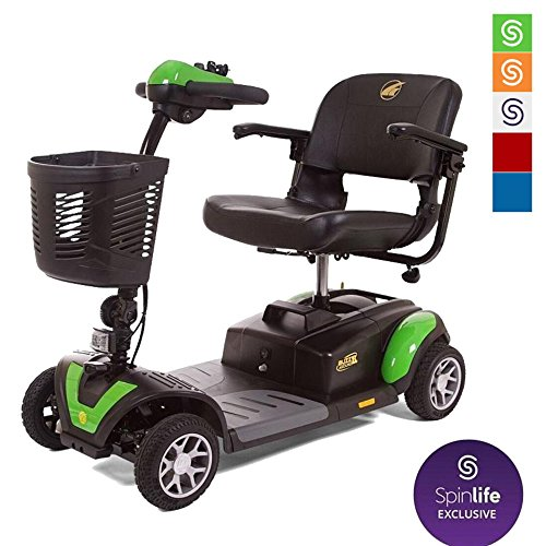Golden Technologies Buzzaround XL 4 Wheel Power Scooter GB147, Green