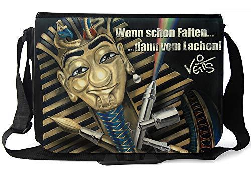 Veit'S lustige Schultertasche Schultasche College Tasche mit Motiv Tutveit Amun - TAB0221