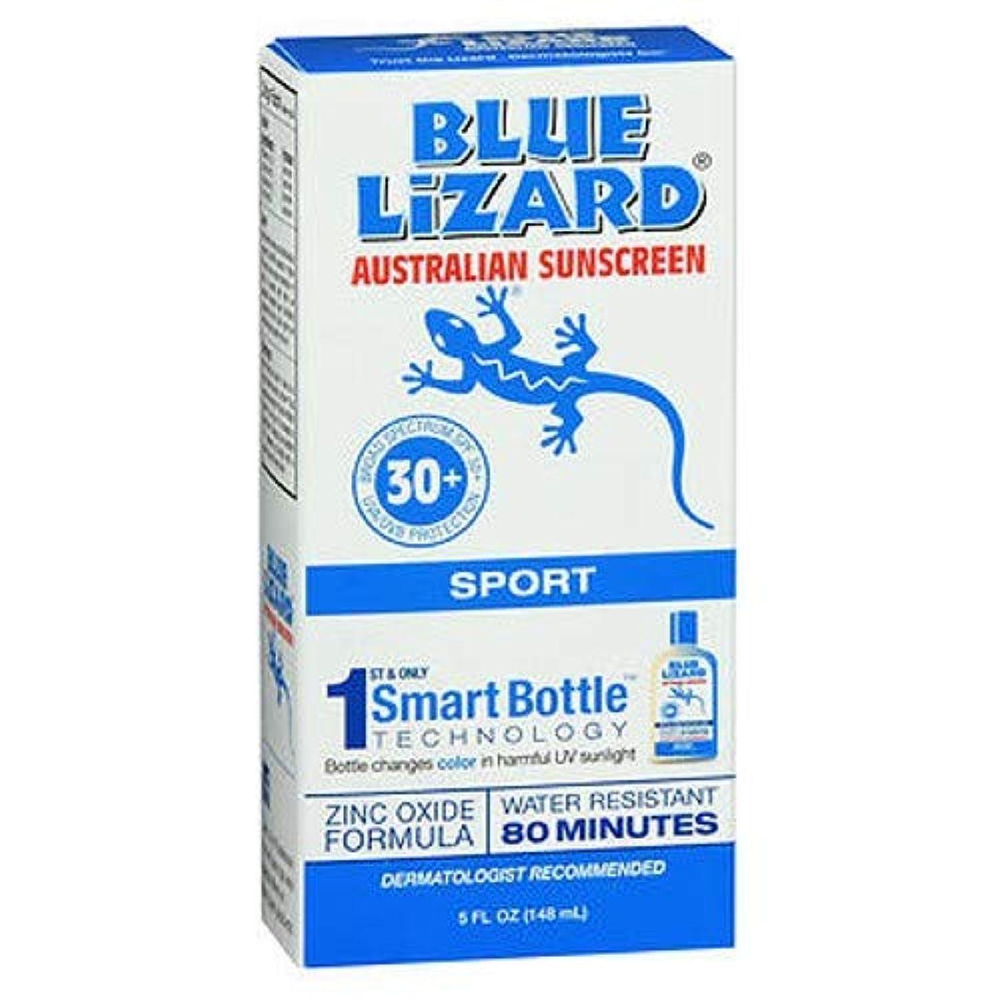 不良品かまど炎上Blue Lizard Australian Sunscreen ブルーリザードSPF#30 +スポーツオーストラリアの日焼け止め5オンス(145Ml)(3パック)