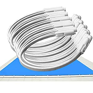 Telepiscinas Goma Elástica para Cobertores de Piscina – Kit 30 Und – Ajustables por apertura del canutillo
