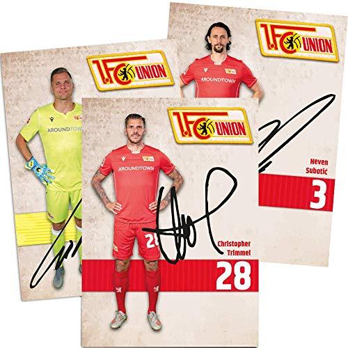 1. FC UNION Berlin Autogrammkarten 2019/2020 - Signiert