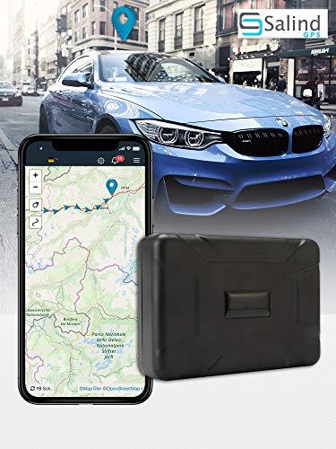 SALIND GPS-Tracker Auto, Motorrad, Fahrzeuge und LKW´s mit Magnet, etwo 40 Tage Akkulaufzeit (bis zu 90 Tage im Standby Modus)