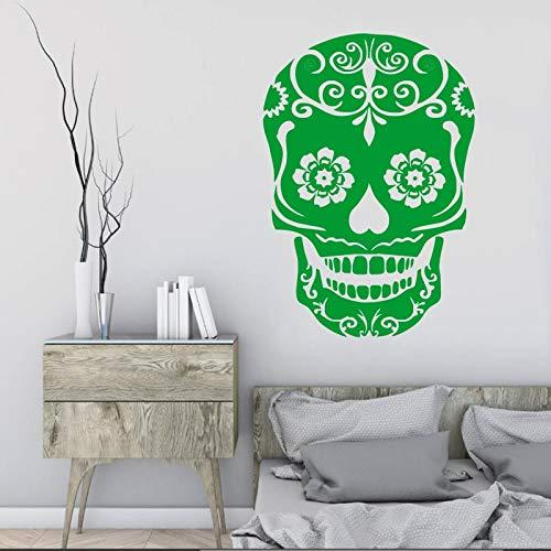 Hetingyue Sticker, doodskop-logo, vinyl, wand, kunst, zelfklevend, decoratie van het huis, vinyl