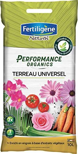 FERTILIGENE Terreau Universel Performance Organics, 10L