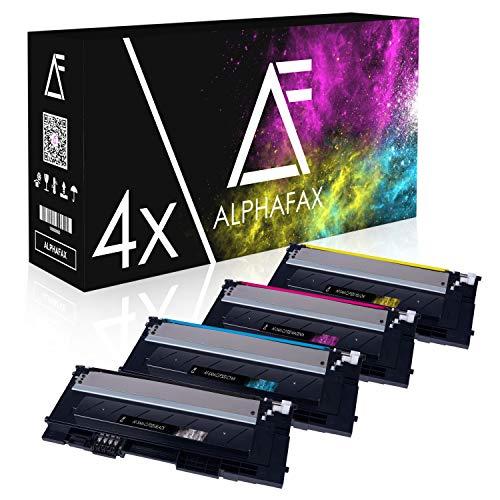 4 Toner kompatibel mit CLP320, CLP-320 Series, CLP-325N, CLX-3180, CLX-3185FN - Schwarz 2.500 Seiten, Color je 2.000 Seiten