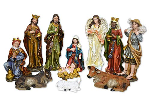 Holy Family Christmas Nativity Scene 24 Inch 11-Piece Colored Large Set