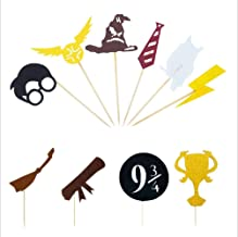 Harry Potter Inspired Cupcake Toppers (Set of 30) Harry Potter Wizard Birthday Party Decorations Supplies Hogwarts party decor