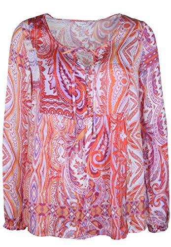 FROGBOX Damen Bluse mit Paisley Muster Bänder