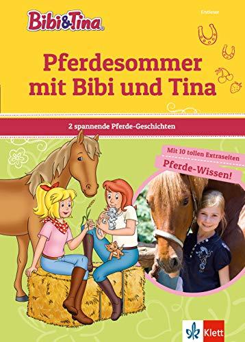 Bibi & Tina: Pferdesommer mit Bibi und Tina: 2 spannende Geschichten plus Hufeisen-Quiz, Mit 10 tollen Extraseiten Pferde-Wissen! Erstleser 2. Klasse, ab 7 Jahren