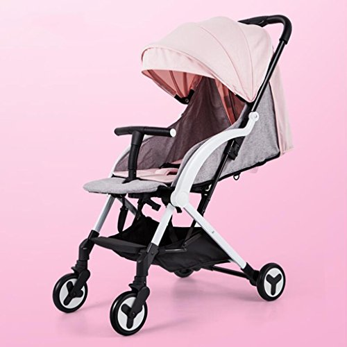 Fantastic Deal! PLDDY Standard Baby Stroller Can Sit Horizontal Portable Folding Four-Wheel Shock Ab...