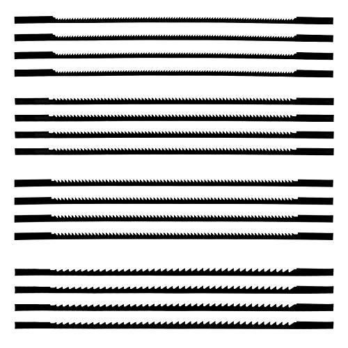 Winfred 16 Stück Dekupiersägeblatt 127mm Feinschnitt Laubsägeblätter mit Stift 10/15/18/24 Zähne passend für Dekupiersägen für Holzbearbeitung Elektrowerkzeug-Zubehör