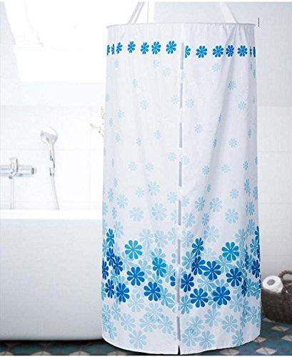 Duschvorhang R&e Polyester Wärmedämmung verdickte doppelte Reißverschluss-Hanging (D100 * L200cm)