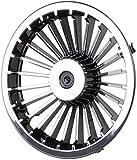 8' Golf Cart Turbine Wheel Covers Hub Caps (Set Of 4) - Black/Silver