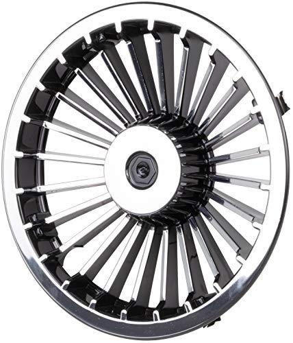 "8"" Golf Cart Turbine Wheel Covers Hub Caps (Set of 4) - Black/Silver"