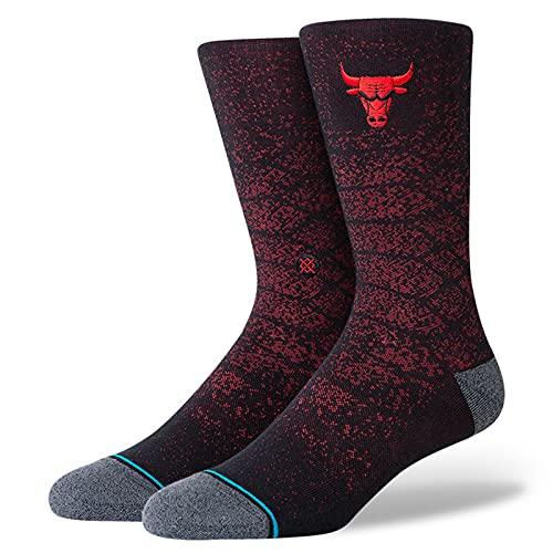 Stance Men's NBA Chicago Bulls Snakeskin Socks Red M