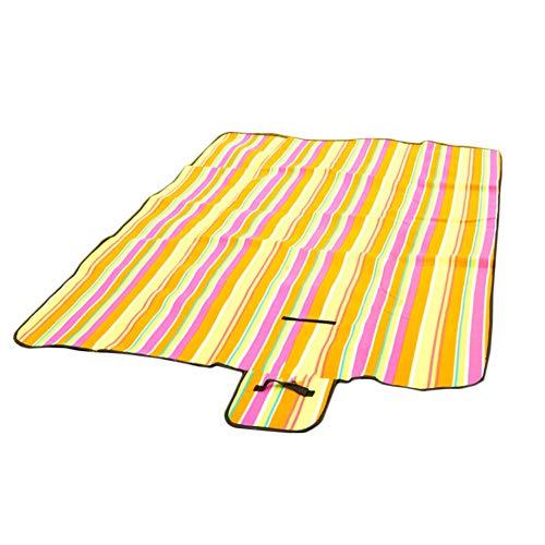 DianShaoA Picknickdecke Wasserdicht Strand-Decke Camping-Matte Für Outdoor Farbstreifen 200 * 150