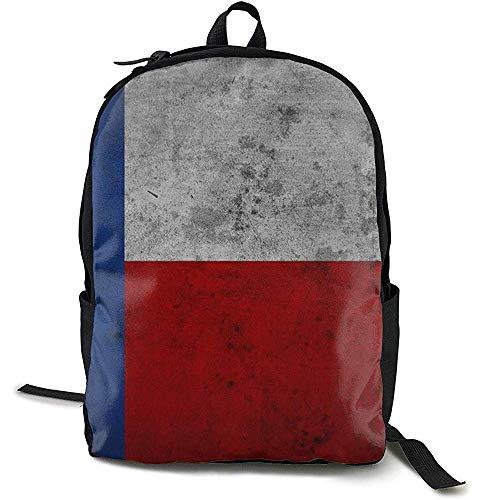 Rugzak voor school, reis, grote luiertas - rugzak retro vlag Texas schoolrugzak voor vrouwen en mannen