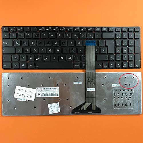 DEUTSCHE - Schwarz Tastatur Keyboard ohne Rahmen Version 2 für ASUS F751, F751L