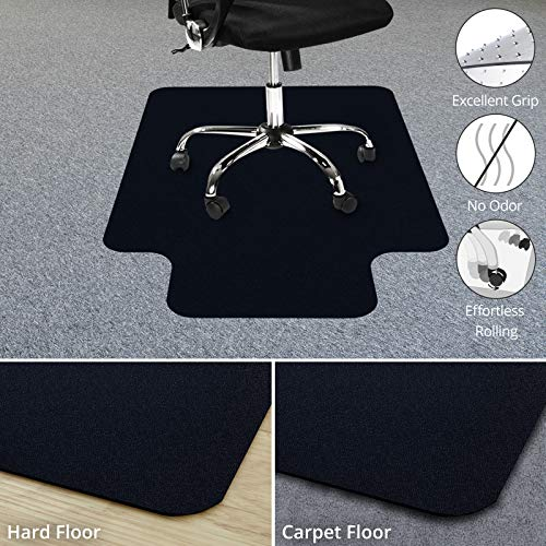 Office Chair Mat for Hardwood Floor | Opaque Office Floor Mat | BPA, Phthalate and Odor Free | Multiple Sizes Available- 30' x 48'