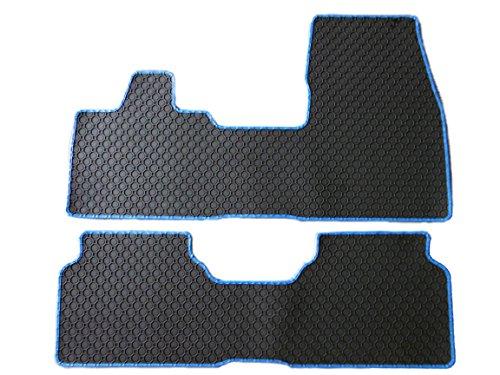 Original Thomatex Gummimatten / Gummi - Fußmatten, Rand Kunstleder blau