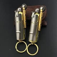 Collectable Vintage Trench lighter Stainless Steel kerosene oil lighter Retro 2 Pack