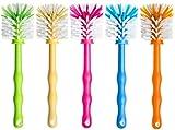 Deine Bürste - 5er Set Reinigungsbürste zum Reinigen von Mixbehälter von Küchenmaschinen, Standmixer usw. Zubehör Spülbürste je (1x Grün/ 1x Gelb/ 1x Pink/ 1x Blau/ 1x Orange)