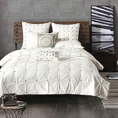 INKIVY Masie 3 Piece Duvet Cover Mini Set White FullQueen