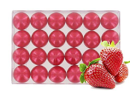 Caja 24 perlas aceite baño nacaradas - Fresa