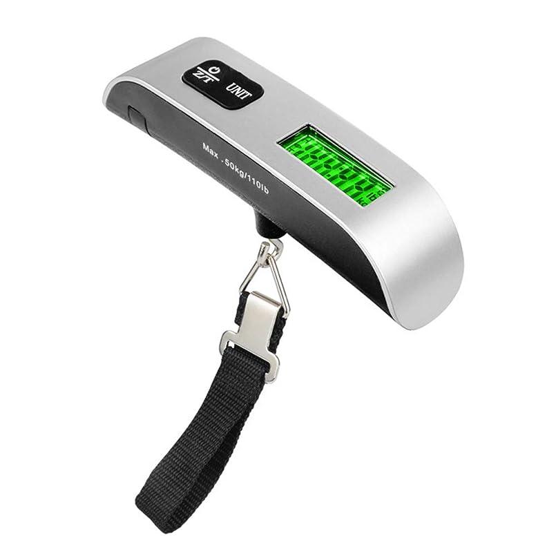 深遠対人やがてYBT 吊りはかり 携帯式 旅行はかり 荷物秤 荷物スケール デジタルスケール UNITボタンで単位切換 液晶ディスプレイ 便利 小型 軽量 旅行 アウトドア 最大50kgまで量れる 電池付属なし