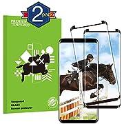 KUTUKU Panzerglas Schutzfolie Galaxy S8, Hochwertiger 3D temperierter Film [2 Stück] [Anti Kratzen] [9H Härte] [Bubble-frei] [Ultra Klar] Displayschutzfolie für Samsung Galaxy S8