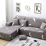 NO BRAND Funda de Sofa Elástica Chaise Longue Brazo Largo Derecho Funda Cubre Sofá Acolchado Diseñada de Forma L (Color : Color 5, Size : AA/BB-4 Seat(235-300CM))